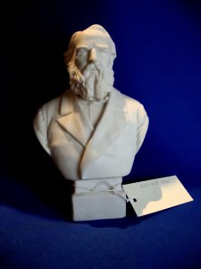 Plaster bust of Henry Wadsworth Longfellow.