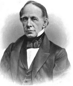 Historic black-and-white picture of a man in a suit