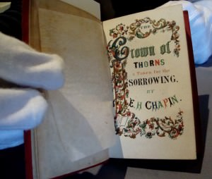 """The Crown of Thorns, a Token for the Sorrowing"" Edwin H. Chapin. Boston: A. Tompkins, 1847."
