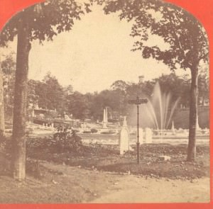 Stereoview of Alice's Fountain c. 1870-1900
