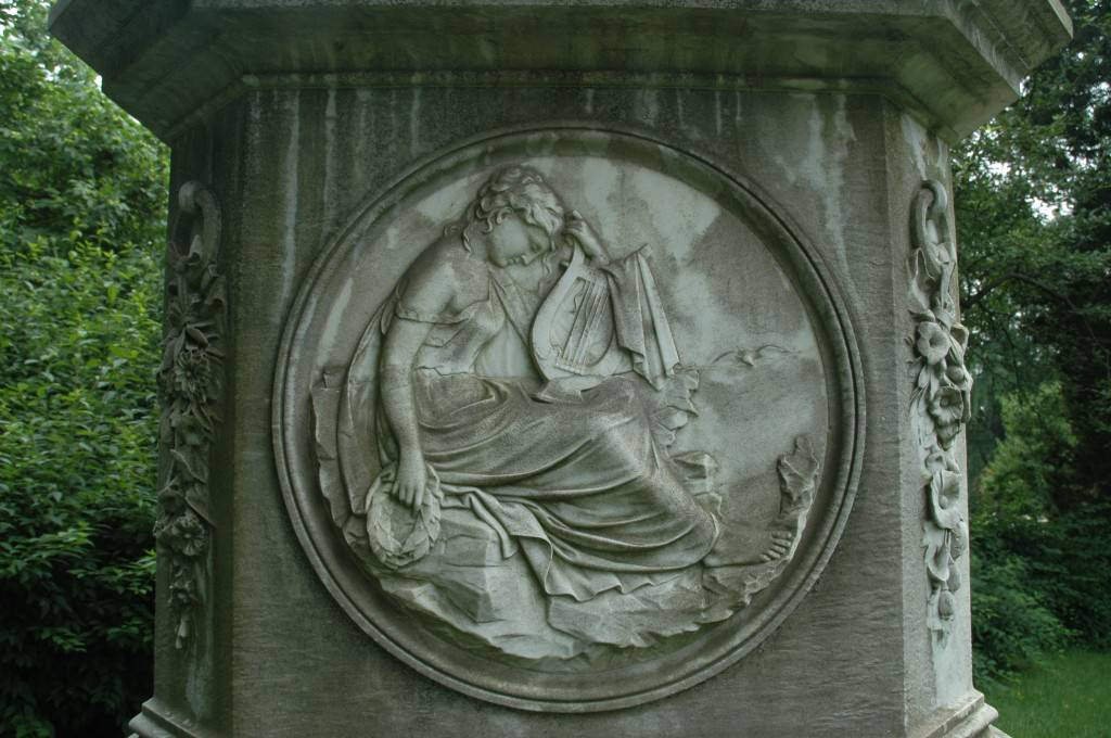 Chickering Monument bas relief