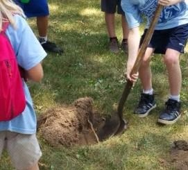 Kids Digging Hole