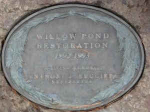 Willow Pond Restoration Plaque