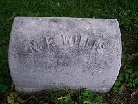 Monument of Nathaniel Parker Willis, photo by Rob Velella
