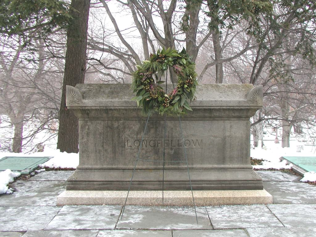 Longfellow Grave with Wreath